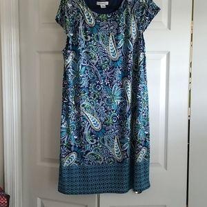 Women's Blue/yellow Patterned; Size XL